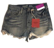 Womens Mossimo High Rise Talle Haute Denim Shorts Size 1  NWT