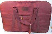 "PIERRE CARDIN Suit Bag W/ KEYS Travel Luggage Burgundy 25"" X 16"""