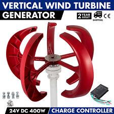 AU 400W 24V Lantern 5-Blades Vertical Axis Wind Turbine Generator+Controller
