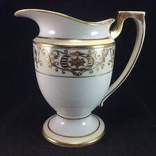 Noritake Japan Christmas Ball Gold Water Pitcher Vintage Porcelain