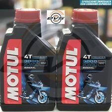 2 Litri Olio Motore Moto MOTUL 3000 20W50 Minerale API SL/SG/SH/SJ  MA2 Harley D