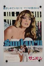 SUNBURN - Farrah Fawcett - Original Vintage Japanese Movie Poster - 1979 Rolled