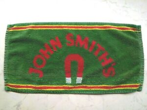 john smiths ale bitter beer golf bar towel cloth pub home gift man cave used