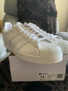 Size 12 - adidas Superstar Size Tag - Off White
