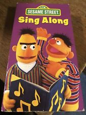 Sesame Street Sing Along VHS 1987 Vintage Rubber Duckie Old MacDonald Alphabet