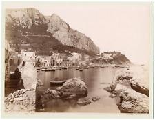 Sommer Giorgio, Italie, Capri, Marina, vue générale  Vintage Albumen Print,Gio