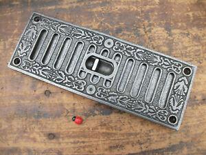 ORNATE Cast Iron air Vent - hit & miss - sliding - brick cover -  kenrick copy
