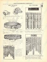 1920s Antique Hardware Ad Bamboo/Steel Fishing Poles & Rods Dog Collars/Muzzles