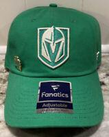 Las Vegas Golden Knights Fanatics NHL St Patricks Day Adjustable Hat Green Cap