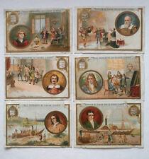 COLLEZIONE SERIE 6 FIGURINE LIEBIG INVENTORI 594 ANNO 1899 lotto - AI