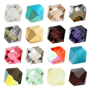 Genuine PRECIOSA Czech Crystal Rondell Bicone Beads * Different Colors & Sizes