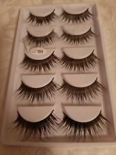 10 Pair False Eyelashes Wispy Cross Long Thick Soft Lashes