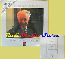 LP 12''CHOPIN/RUBINSTEIN/VOL.2 Le mazurche/Le polacche SIGILLATO PROMO cd mc dvd