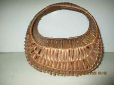 Vintage Wicker Gondola Small Hand Made Basket, Basket Bag, Purse