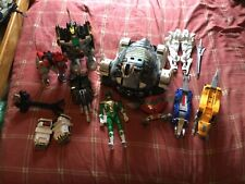 Mighty Morphin Power Rangers Zord lot Megazord, Dragon Zord, and Titanus 1993