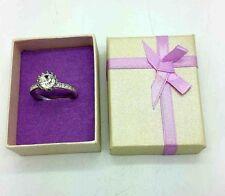 Avon Diamante Anillo de garras astilla Plateado Amor Joyas Accesorios Regalo Presente