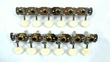 Acousic12 string guitar Nickel-plated Tuning Pegs Ivory plastic button 341N-SI #