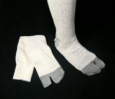 "Japanese Tabi Boots Ninja Socks /""Off White/"" 26-28 cm 6 pairs"