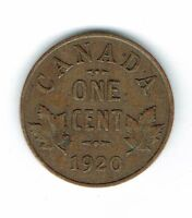 1920 Canadian Circulated George V One  Small Cent coin!