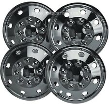"16"" Chrome Look Motorhome Van Wheel Trims- American RV Style Hub Caps X 4 New"