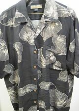 Nice Tommy Bahama Button Down Hawaiian Shirt 100% Silk Men's Size M Rare