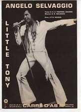 SC1 SPARTITO ANGELO SELVAGGIO Little Tony - Canto/Mandolino/Fisa 1971