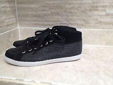 Feiyue Homme Noir Haut Top Baskets/Chaussures EUR 41/UK 8