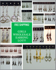 WHOLESALE LOT OF 20 PAIRS EARRINGS / DANGLE / HYPO ALLERGENIC / US SELLER