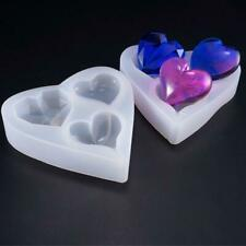 Heart Silicone Pendant Mold Jewelry Making Resin Mould Epoxy Casting Craft DIY