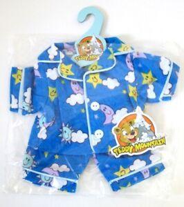 """TEDDY MOUNTAIN Doll/Bear clothes outfit 8"""" Sunny Days Blue PJ's"""