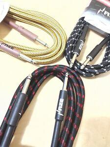 "Haze 3M/10FT Guitar/Bass/Instrument Cable, 1/4"" Jacks, 8mm Thickness Tour Grade"