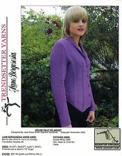 Trendsetter Lane Borgosesia Knitting Pattern JSS #38 Tally Ho Jacket Women 34-45