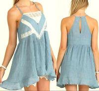 Umgee Dress Size XL S M L Blue Lace Tank Beach Swim Cover Boho Summer Womens New