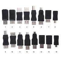 16x Universal USB2.0 Adapter Konverter Set USB Stecker auf Buchse Micro USB Neu