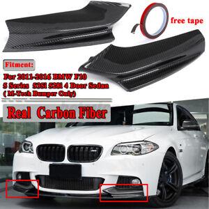 For BMW F10 5 Series 2011-2016 Carbon Fiber M-Tech Front Bumper Spoiler