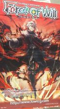 Force of Will FOW TCG R3 Gill Lapis, Rebel of Darkest Fires ORIGINAL WALL BANNER