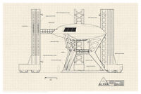 Lost In Space Jupiter 2 Launch Pad Diagram Poster 12x18 inch Poster 12x18