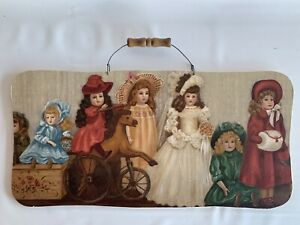 Doll Collector Hanging Sign Plaque Antique Vintage Rustic Mother's Day Gift