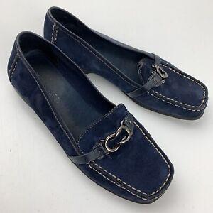 Aerosoles Blue Slip On Loafer Women's Shoe Size 7.5