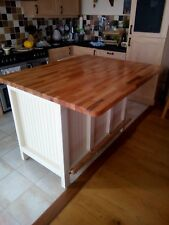 Kitchen Island Rustic hand made UNPAINTED - The Eaton