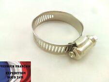 Collier de serrage INOX / ACIER 21 / 44 mm, VENDEUR FRANCAIS