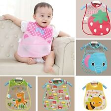 Plastic Cartoon Pattern Bib Feeding Translucent Baby Waterproof Bibs Towel