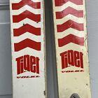 Vintage Volkl Tiger kids skis 160cm Look 55 Nevatic bindings White Decor Display