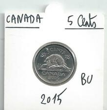 CANADA 5 CENTS 2015 MINT LOGO BEVER BEAVER FROM THE BRILLANT UNCIRCULATED SET