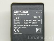 Mitsumi R7162B UK AC Power Adaptor ~ 9V ~ New / Unused