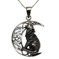 Argento Sterling 925 Howling Wolf Collana Con Ciondolo Luna in confezione regalo Lisa Parker