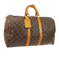 LOUIS VUITTON KEEPALL 45 TRAVEL HAND BAG PURSE MONOGRAM M41428 892FC A51827