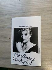 More details for pop star signed postcard 1980s,singer marianne faithfull,