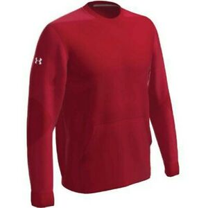 Under Armour Men's CTG Warm-Up Layering Crew Pullover RED LG