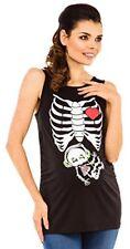 Zeta Ville - Women's Maternity Shirt Headphones X-Ray Baby Print Halloween 506c